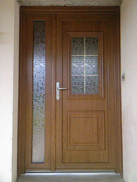 Porte d'entrée PVC tiercée en rénovation