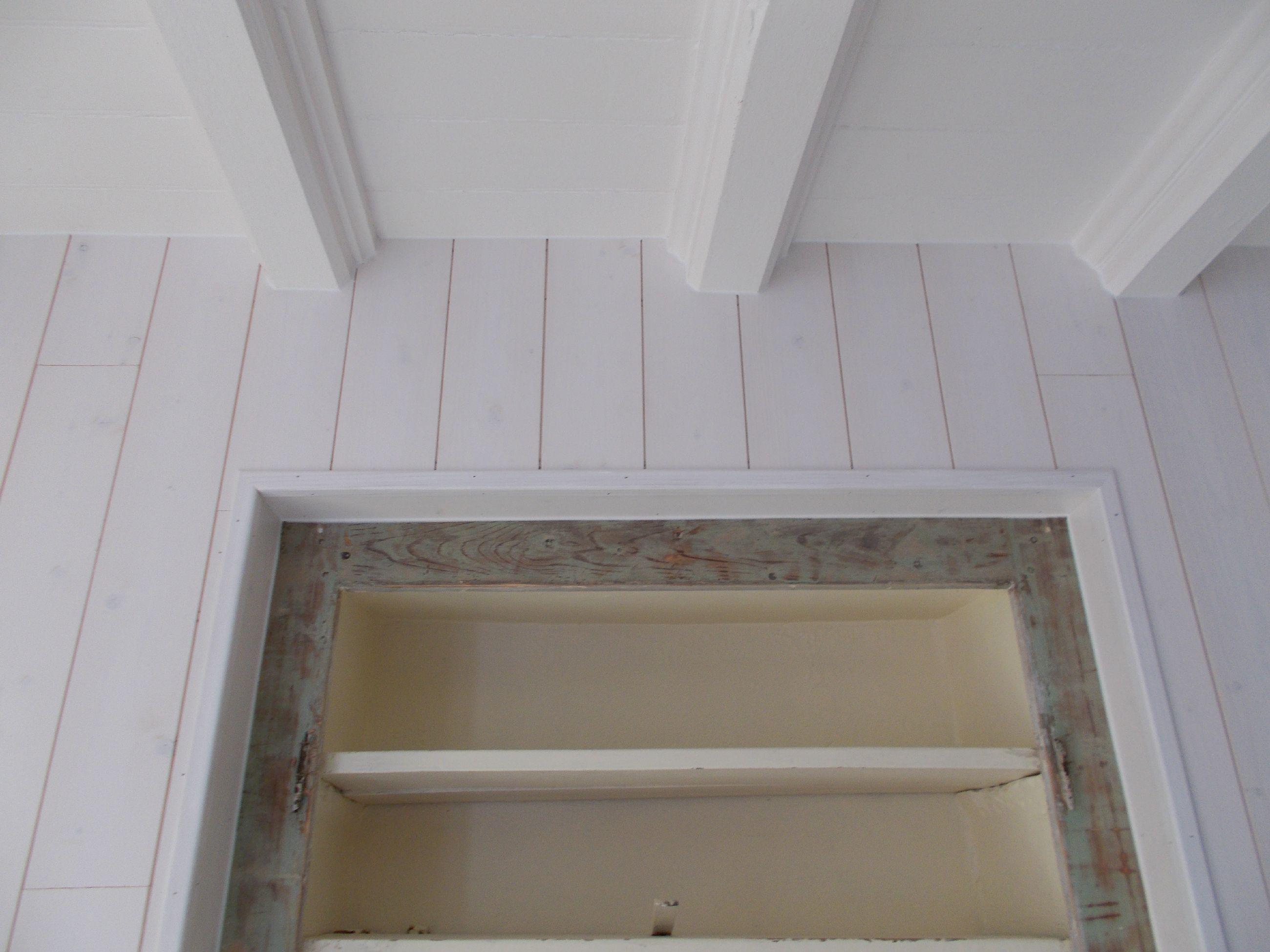 RÉNOVATION - Lambris Bois blanc aspect brossé